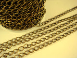 6mm Antique Brass Finish Jewelry Chain