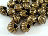 6mm Antique Bronze Beads
