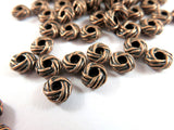 6mm Antique Copper Metal Beads