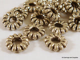 6mm Antique Silver Ribbed Disk Spacers