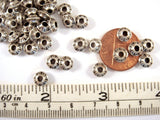6mm Antique Silver Tribal Spacer Beads