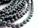 6mm Czech Purple Iris Beads