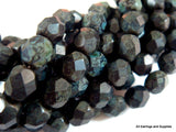 6mm Jet Black Matte Czech Glass Picasso Beads