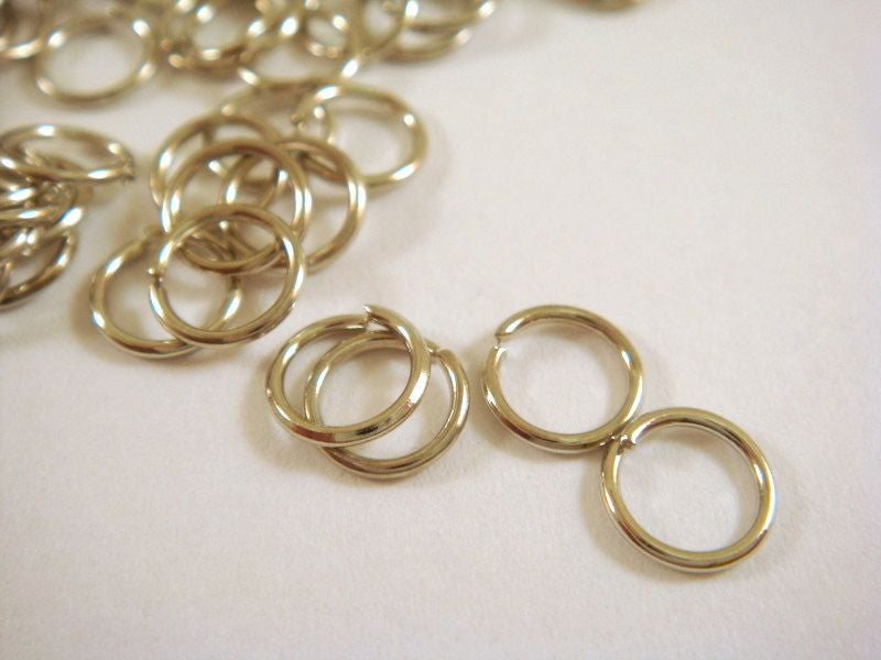 6mm Nickel Finish Jump Rings