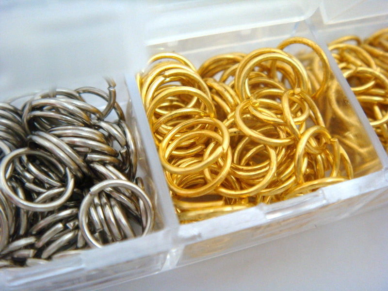 6mm Open Jump Rings 6 Assorted Finishes