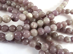 6mm Semi-Precious Lilac Gemstones