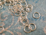 6mm Silver Plated Open Jump Rings