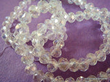 6x4mm Faceted Clear AB Glass Beads