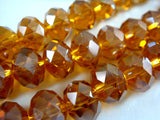 8mm Amber AB Glass Rondelles