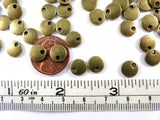 Antique Bronze Beads, Flat Round Lentil Disk Plated Metal Charm Drops LF/NF 8mm - 20 pcs. - M7040-AB20