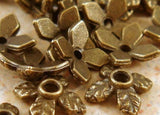 8mm Bronze Flower Bead Caps