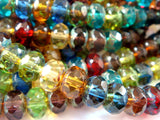 8mm Faceted Gemstone Glass Rondelles