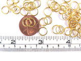 8mm Open Unsoldered Gold Plated Jump Rings
