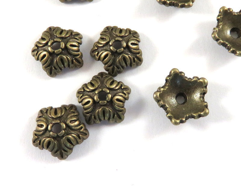 Antique Bronze Bead Caps