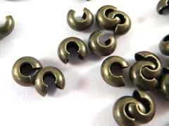Antique Bronze Brass Crimp Bead Covers