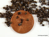 Antique Bronze Brass Crimp Beads