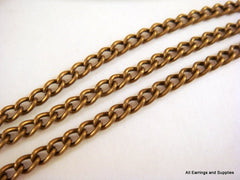 Antique Bronze Curb Chain