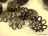 Antique Bronze Filigree Wraps