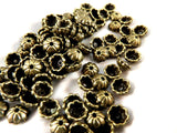 Antique Bronze Bead Caps, Small Domed Half Round Flowers LF/NF 6x2.5mm - 50 pcs. - F4208BC-AB50