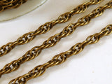 Antique Bronze Rope Chain