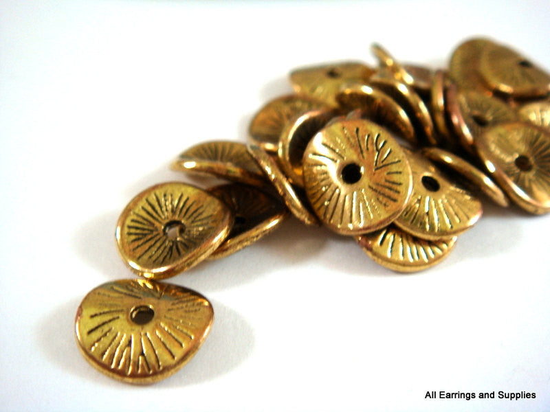 Antique Gold Donut Beads