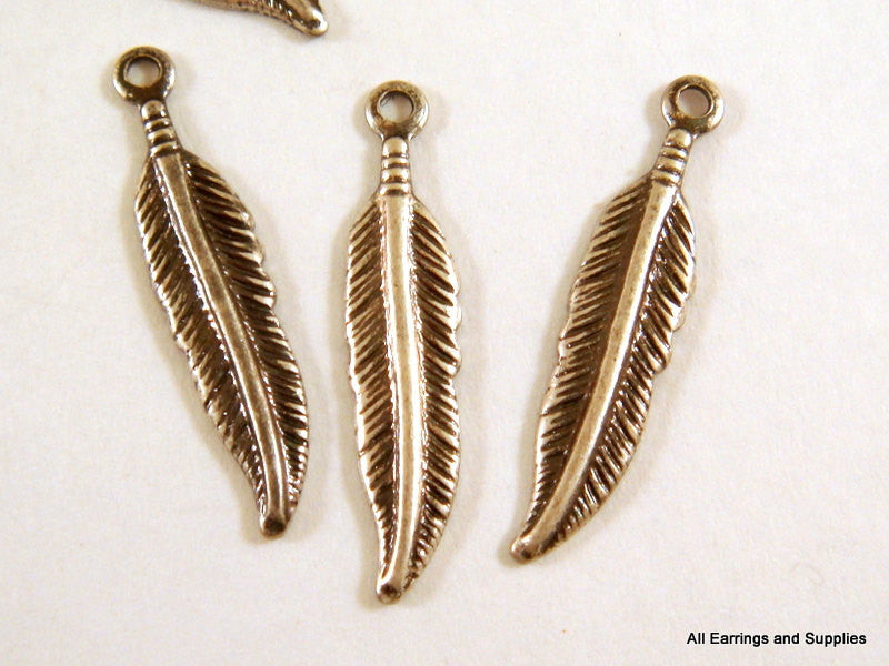 Antique Silver Feathers