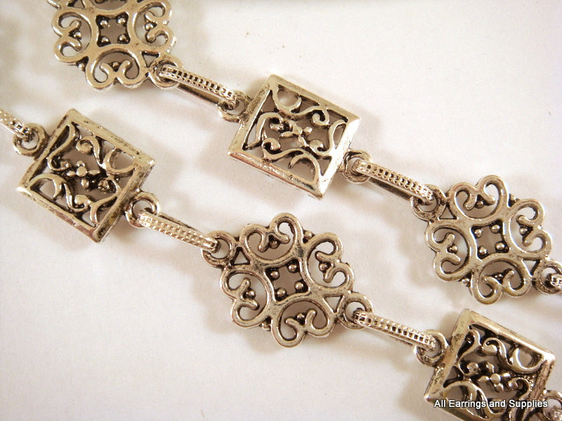 Antique Silver Necklace Chain