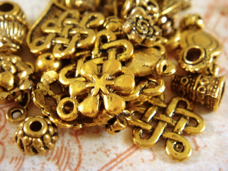 Assorted Antique Gold Charms