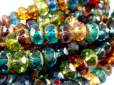 Assorted Czech Glass Gemstone Rondelles