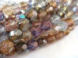 Assorted Transparent Faceted Round Beads