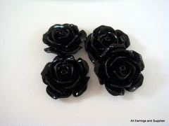 Black Rose Cabochons