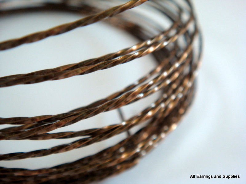 Twisted Jewelry Wire, Vintage Bronze Soft Temper Non-Tarnish Copper, 18g - 8 ft. - STR9069WR-TWVB8
