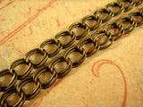 Bronze Plated Double Link Chain