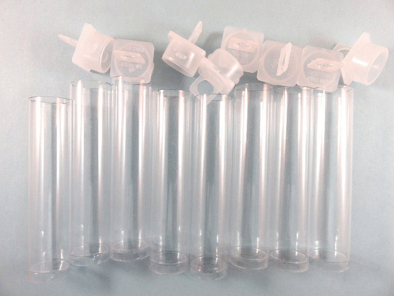 "Clear Acrylic Tubes, Vials with Stopper and Loop, Pendants, Bead Storage Organizers 2.5"" - 8 pcs. - MS11051-BT8"