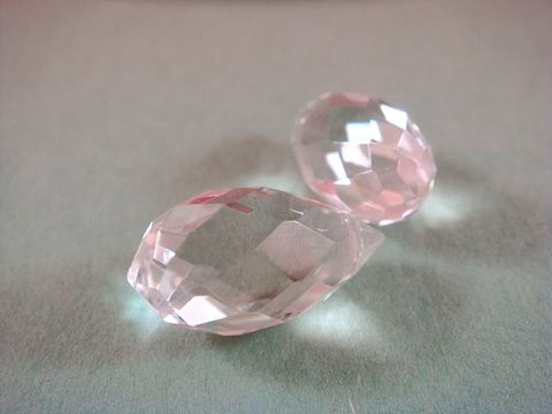 Clear Crystal Briolettes