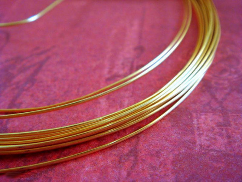 Half Round Jewelry Wire, Gold Plated Copper, Soft Temper, Non-Tarnish, 18g - 12 ft.- STR9064WR-HRG12
