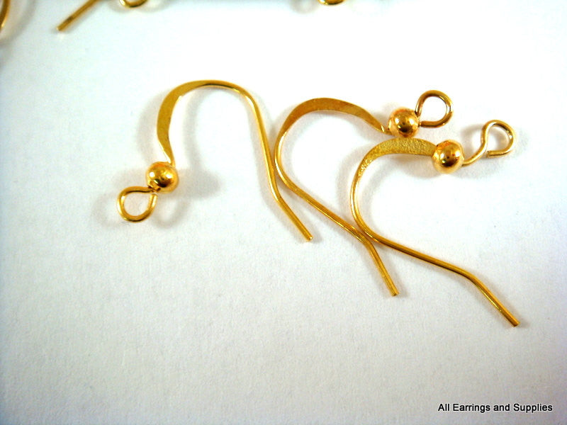 Gold Plated Fishhook Earwires