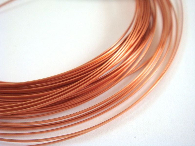 Half Round Jewelry Wire, Copper Soft Temper Non-Tarnish, 18g - 21 ft.- STR9064WR-HRC21