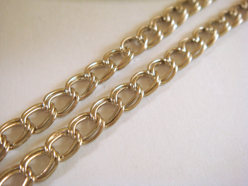 Nickel Finish Chain, Double Link Curb Style, Unsoldered, 6x5mm - 5 feet - STR9022CH-N5