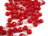 Opaque Red Glass Beads
