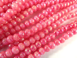 Pink AB Pearlized Glass  Beads