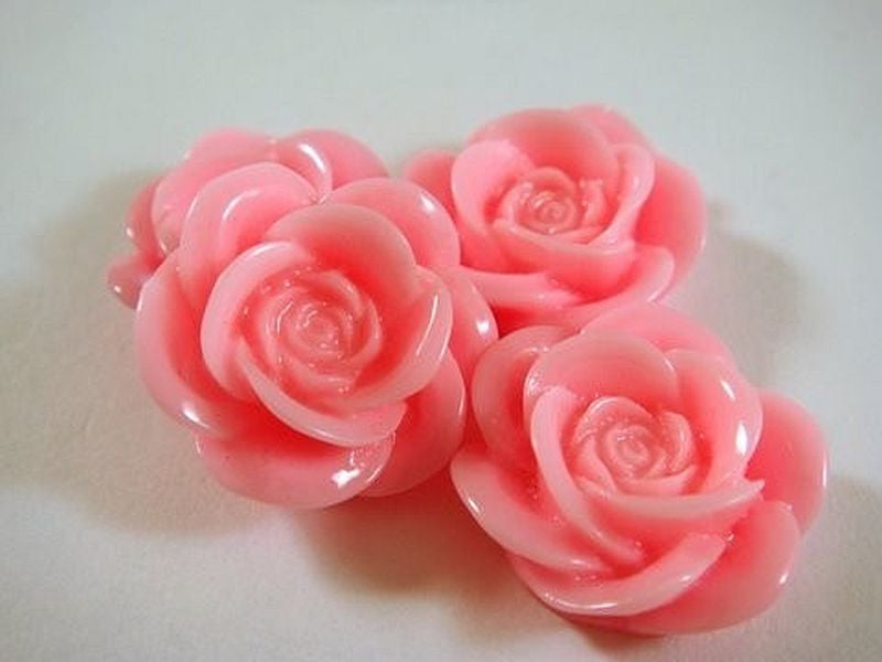 Pink Rose Cabochons