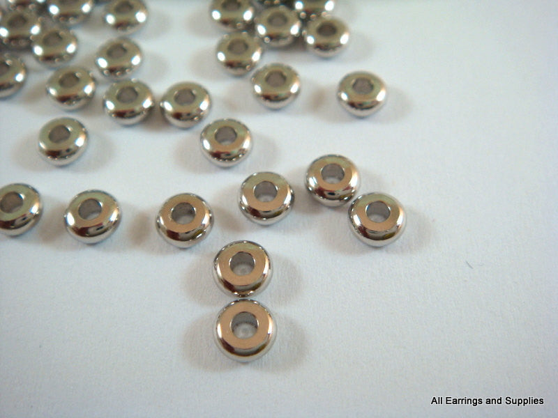 Platinum Spacer Beads