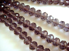 8x6mm Amethyst Glass Beads