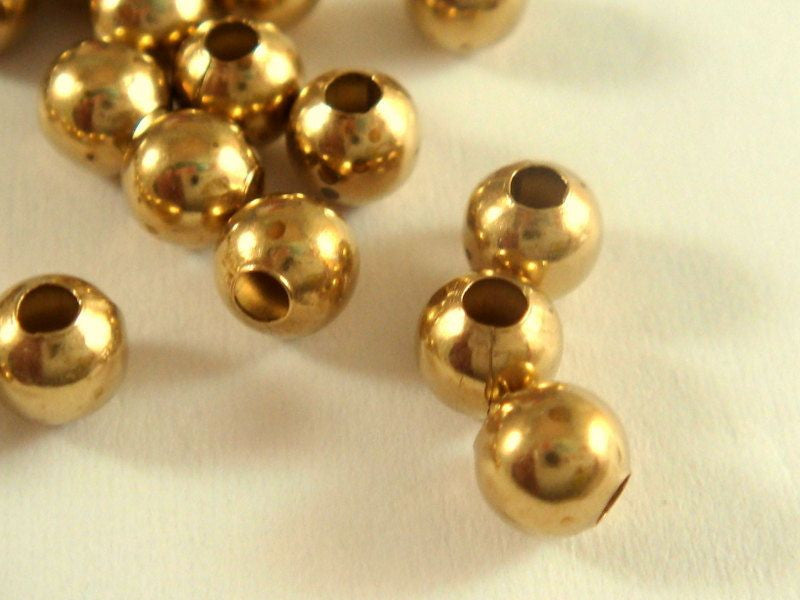 Raw Brass Spacer Beads