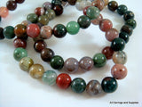Round 8mm Fancy Jasper Stone Beads