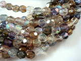 Round Faceted Glass Bead Mix