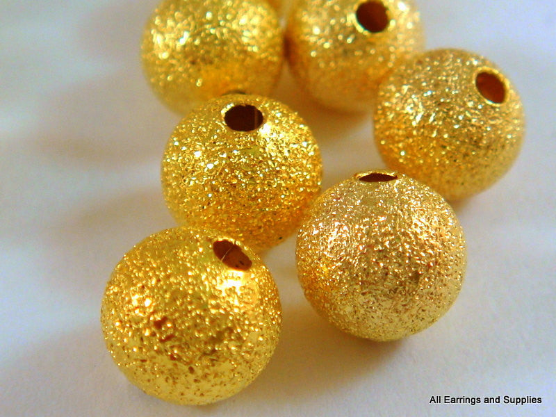 Round Gold Stardust Spacers