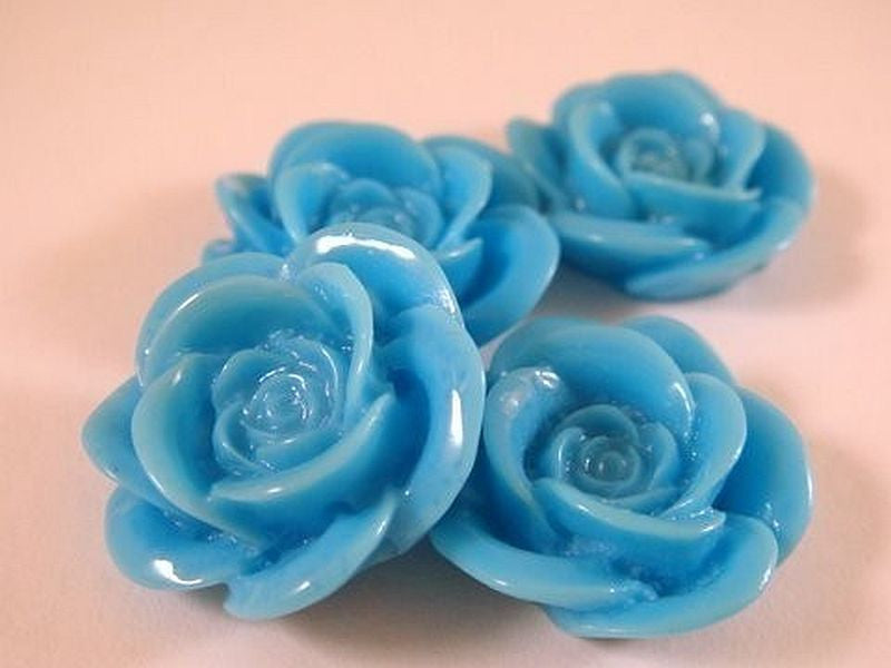 Turquoise Rose Cabochons