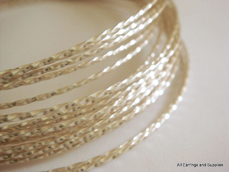 Twisted Jewelry Wire, Silver Plated Copper, Soft Temper, Non-Tarnish, 18g - 8 ft.- STR9069WR-TWS8